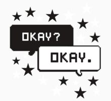 The Fault In Our Stars Black Design Stars T-shirt Okay Okay by krochelle