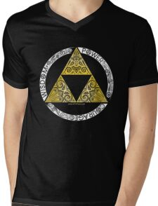 Zelda - Triforce circle Mens V-Neck T-Shirt