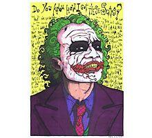 The Joker, The Dark Knight #2 Photographic Print