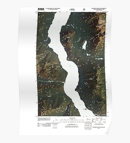 USGS Topo Map Washington State WA Hozomeen Mountain 20110510 TM Poster