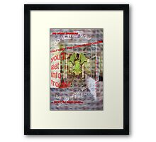A Place Where Even Angels are Confused! Framed Print