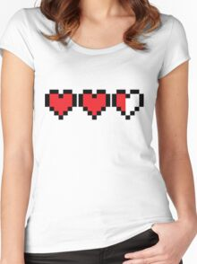 Zelda Heart Container Women's Fitted Scoop T-Shirt