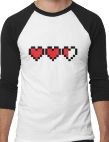 Zelda Heart Container Men's Baseball ¾ T-Shirt