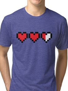 Zelda Heart Container Tri-blend T-Shirt