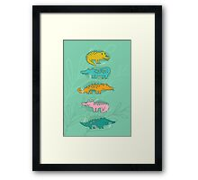 Cute Crocodiles Framed Print