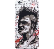 Fight Club #6 The First Rule Of Fight Club Is.... iPhone Case/Skin