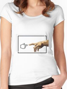 Creation of humans Women's Fitted Scoop T-Shirt