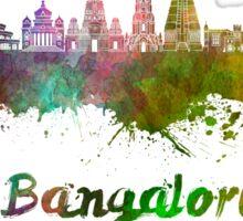 Bangalore skyline in watercolor Sticker
