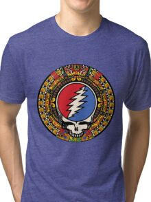 2012 Mayan Steal Your Face - Full Color Tri-blend T-Shirt