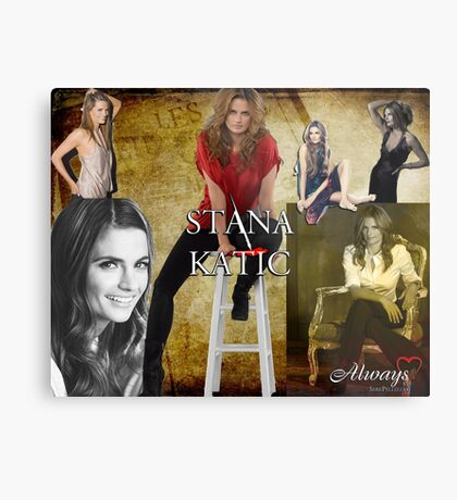 Stana Katic Metal Print