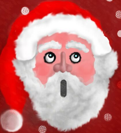 Father Christmas in awe Sticker