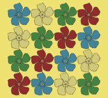 Flowers One Piece - Short Sleeve
