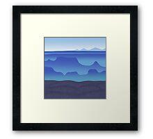 morning fog in the blue desert Framed Print
