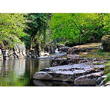 River Greta, Devil's Gorge. North of of England.  Photographic Print