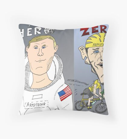 Caricature des deux ARMSTRONG Throw Pillow
