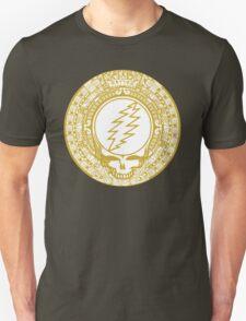 Mayan Calendar Steal Your Face - GOLD Unisex T-Shirt