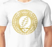 Mayan Calendar Steal Your Face - GOLD Unisex T-Shirt
