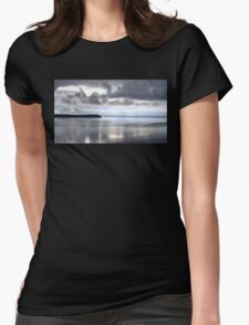 Calm Water Under Cloudy Sky - Puget Sound Womens Fitted T-Shirt