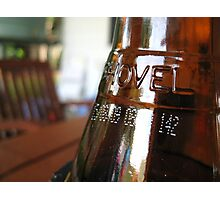 Beer Bottle Photographic Print