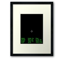 Monkey Island Pixel Style- Retro DOS game fan item Framed Print
