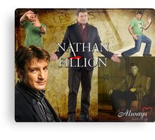 Nathan Fillion Metal Print