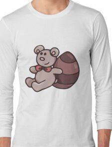 Teddy Bear with Chocolate Egg Long Sleeve T-Shirt