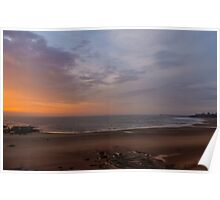 Dawn on Tynemouth Beach Poster
