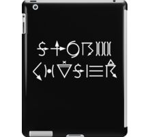 Storm Chaser - white lettering iPad Case/Skin