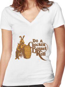 Cracker Barrel Roll Women's Fitted V-Neck T-Shirt