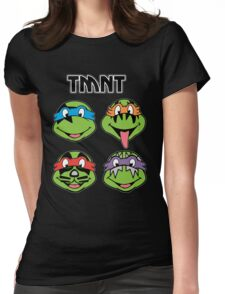 TMNT and KISS crossover Womens Fitted T-Shirt