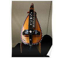 Beautiful French Hurdy Gurdy Poster
