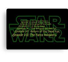 Star Warz - Episode Joke List Canvas Print