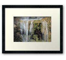 Magical waterfall Framed Print