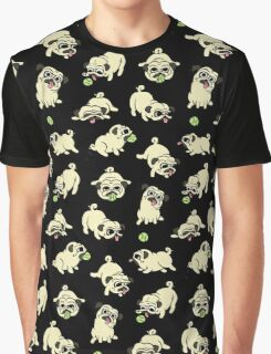 Playful Pugs Graphic T-Shirt