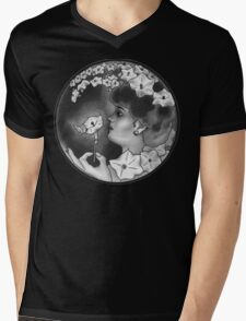 Woman in the Moon Mens V-Neck T-Shirt