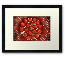 Draining the Red Away Framed Print