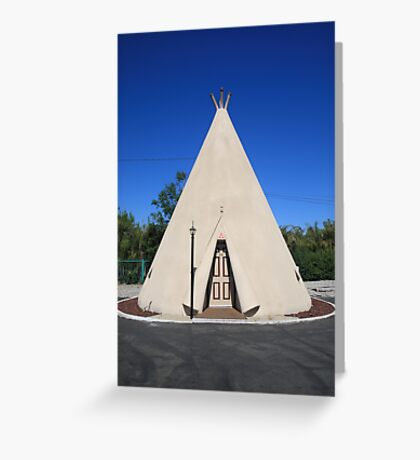 Route 66 - Wigwam Motel Greeting Card