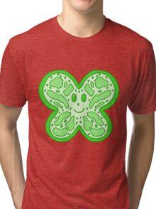 Green Butterfly Face Tri-blend T-Shirt