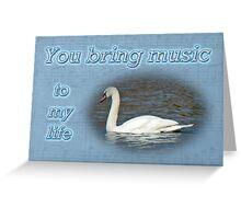 Love - I Love You Greeting Card - Mute Swan Greeting Card
