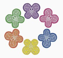 Butterfly Faces Rainbow Kids Tee