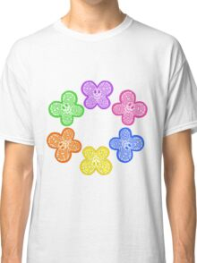 Butterfly Faces Rainbow Classic T-Shirt