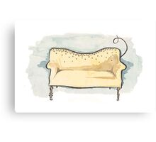 Glitter Couch Canvas Print