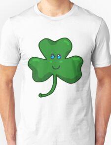 Happy Face Shamrock Clover T-Shirt