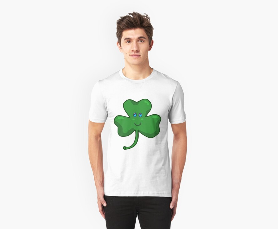 Happy Face Shamrock Clover by hybridwing