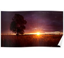 Western NSW Sunset Poster