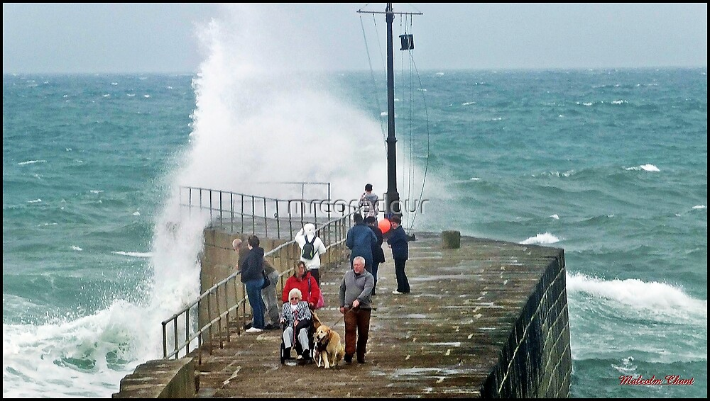 """"""" Again today 2 hours before high tide, a Dog an a invalid at risk"""" by Malcolm Chant"""