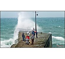""""""" Again today 2 hours before high tide, a Dog an a invalid at risk"""" Photographic Print"""