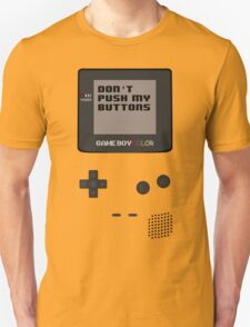 Nintendo - Don't Push My Buttons (Gameboy Color) T-Shirt