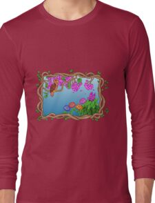 Bird in a Blossom Garden Long Sleeve T-Shirt