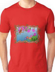 Bird in a Blossom Garden Unisex T-Shirt